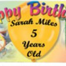 Birthday Colors Personalized Candy Bar Wrapper Only BD008