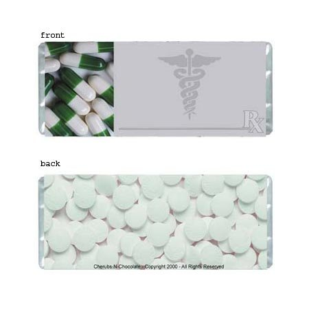 Medical Personalized Candy Bar Wrapper Only B010