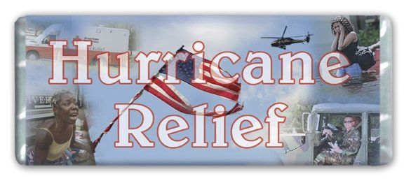Hurricane Relief Personalized Candy Bar Wrapper FR005-C