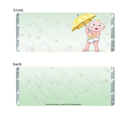 Baby Shower 2 Personalized Candy Bar Wrapper BS06-C