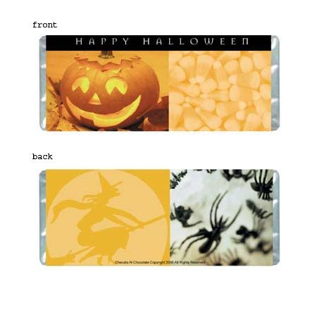 Halloween Personalized Candy Bar Wrapper Only HD008
