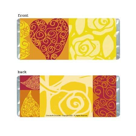 Hearts Personalized Candy Bar Wrapper Only AP013