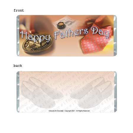 Fathers Day Personalized Candy Bar Wrapper Only SE022
