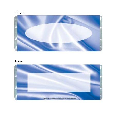 Blue Satin Personalized Candy Bar Wrapper AP018-C