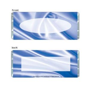 Blue Satin Personalized Candy Bar Wrapper Only AP018