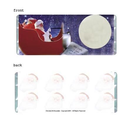 Santa Personalized Candy Bar Wrapper Only HD013