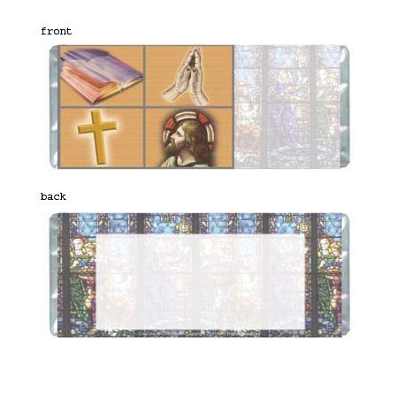Holy Personalized Candy Bar Wrapper Only SE023