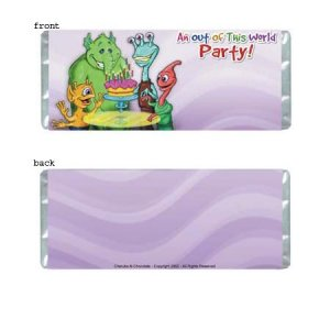 Out Of This World Personalized Candy Bar Wrapper BD013-C