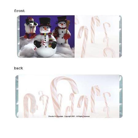 Snowmen Personalized Candy Bar Wrapper Only HD014