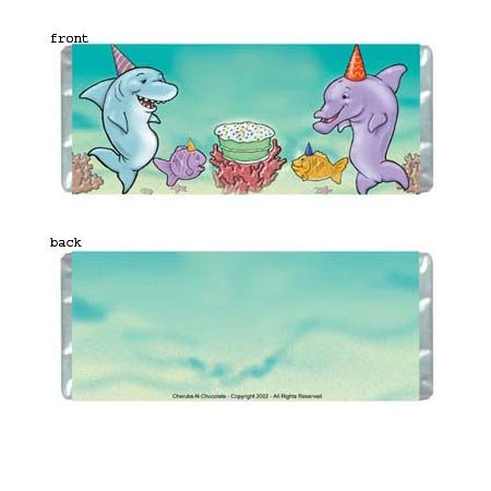 Ocean Party Personalized Candy Bar Wrapper Only BD016