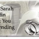 Wedding Sophistication Personalized Candy Bar Wrapper WD013-C