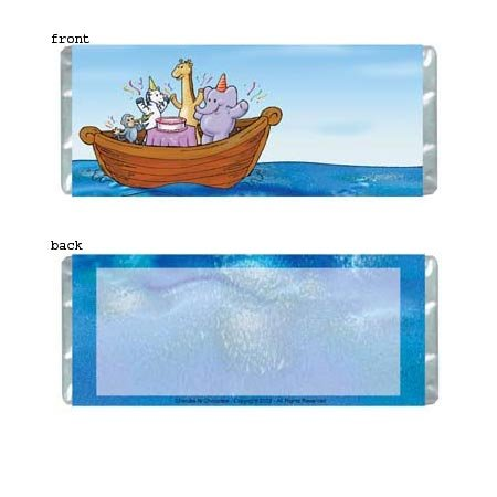Ark Party Personalized Candy Bar Wrapper BD018-C