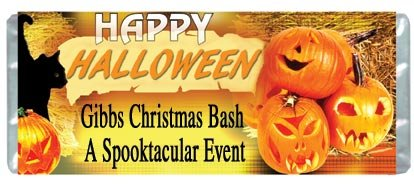 Halloween 2 Personalized Candy Bar Wrapper Only HD017
