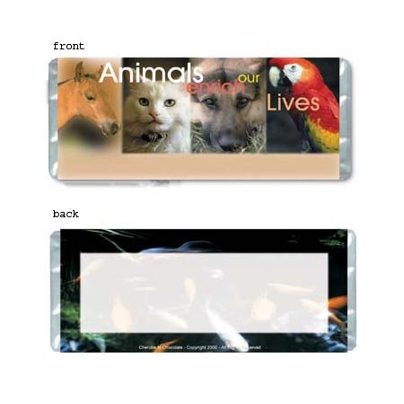 Animals Personalized Candy Bar Wrapper AP028-C