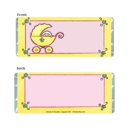 Girl Stroller Personalized Candy Bar Wrapper Only BA020