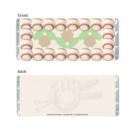 Baseball Personalized Candy Bar Wrapper AP042-C
