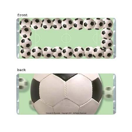 Soccer Personalized Candy Bar Wrapper AP044-C
