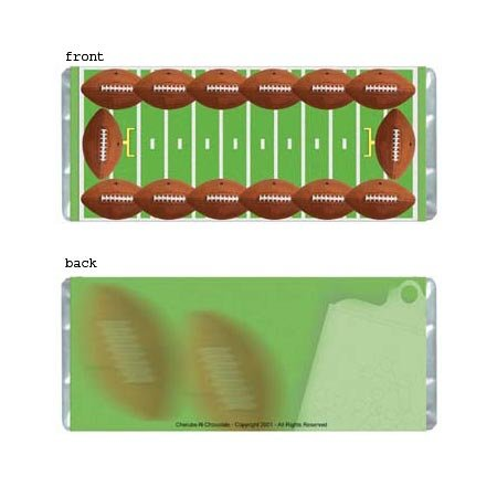 Football Personalized Candy Bar Wrapper Only AP045