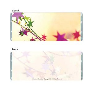 Stars Personalized Candy Bar Wrapper Only AP059