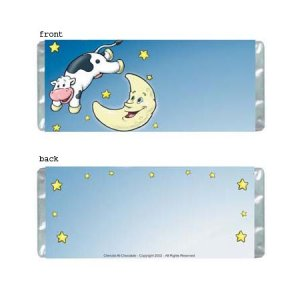 Cow Over Moon Personalized Candy Bar Wrapper Only AP064