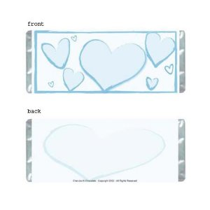 Heartfelt 2 Personalized Candy Bar Wrapper AP069-C