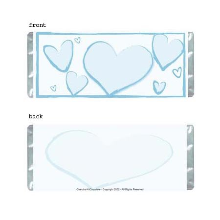 Heartfelt 2 Personalized Candy Bar Wrapper Only AP069