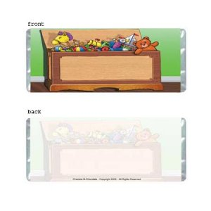 Toy Box Personalized Candy Bar Wrapper Only AP070