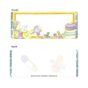 Baby Toys Personalized Candy Bar Wrapper BA021-C