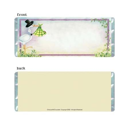 Stork Delivery Personalized Candy Bar Wrapper BA027-C