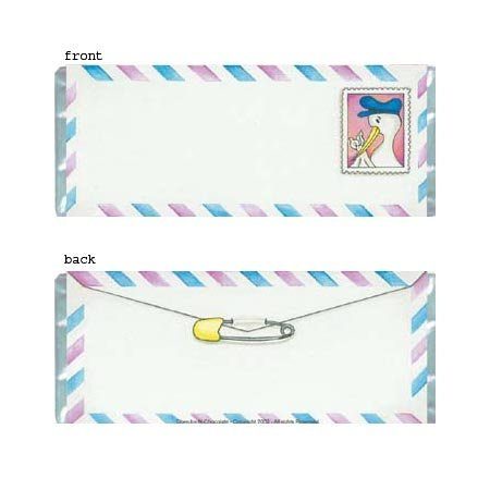 Stork Letter Personalized Candy Bar Wrapper Only BA030