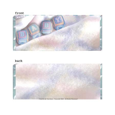 Baby Soft Personalized Candy Bar Wrapper Only BA031