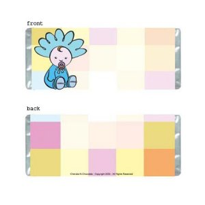 Baby Squares Personalized Candy Bar Wrapper BA033-C