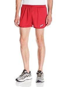 ASICS Men's Rival II 1/2 Split Running Shorts - Red, XX-Large