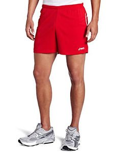 ASICS Men's Interval Track & Field 5-Inch Running Shorts - Red, XX-Large