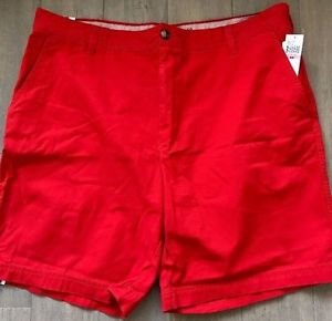 Izod Men's Saltwater Flat Front Shorts Size 40W High Risk Red