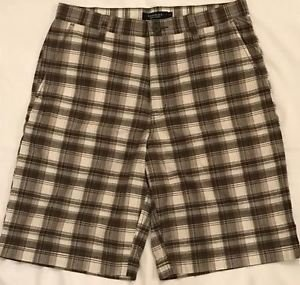 Sonoma Life + Style Men's Flat-Front Plaid Cotton Madras 11-Inch Longer Shorts