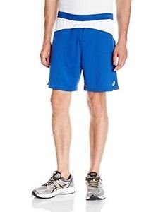 ASICS Mens X-Over 8-Inch Volleyball Shorts - Royal Blue, X-Large