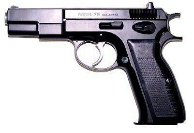 Uhc Cz75 Airsoft Spring Pistol (black)