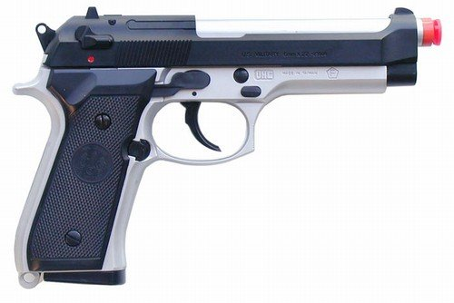 Uhc M9 Airsoft Heavy Weight Spring Pistol (2-tone)