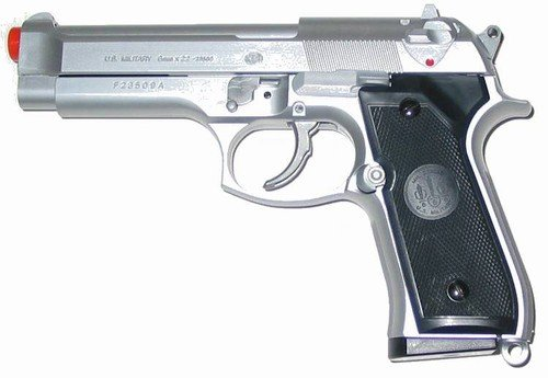 Uhc M9 Airsoft Heavy Weight Spring Pistol (silver)