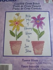 Flowers Bloom cross stitch kit new
