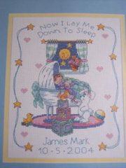 Bedtime Prayer Birth Record Cross Stitch Kit New