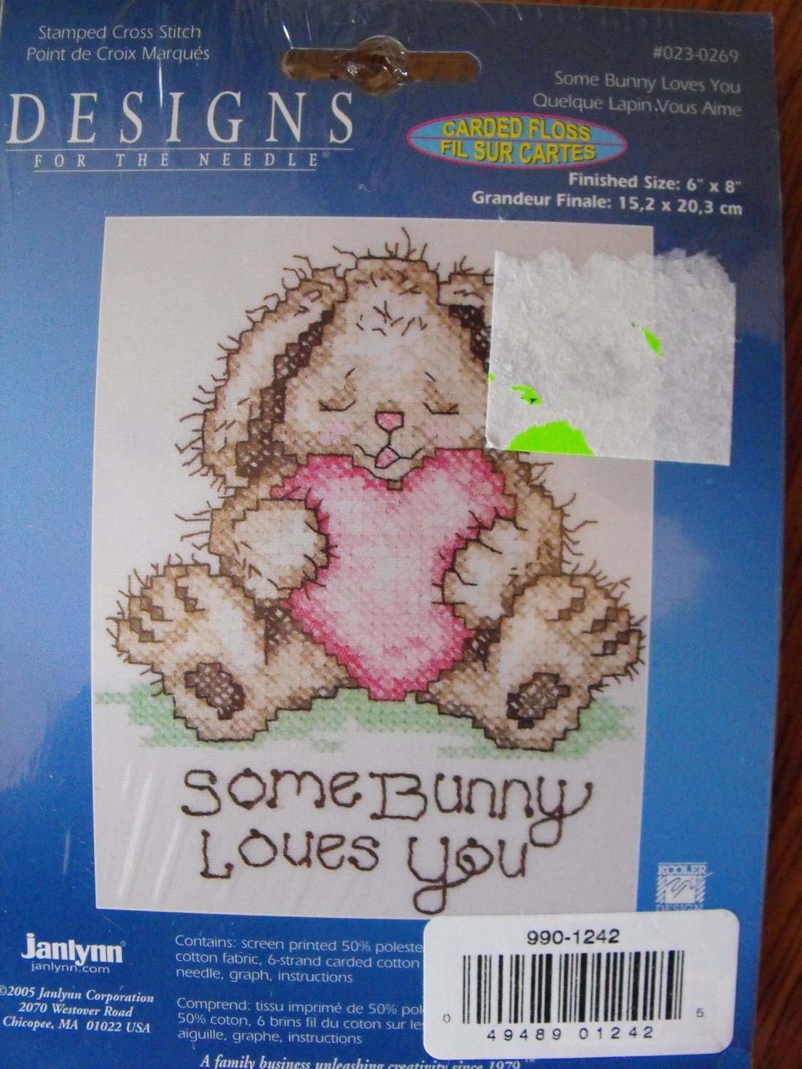 Some Bunny Loves You Stamped Cross Stitch Kit New