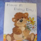 Daisy Bear Cross Stitch Kit New