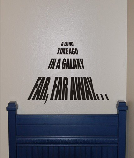 Star Wars--A Long Time Ago vinyl Wall Decal