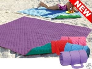 New Huge Reversible Cotton Quilted Beach Blanket