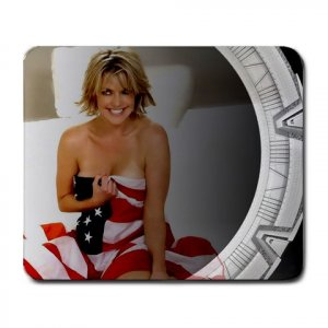 Beautiful Sexy Amanda Tapping In American Flag Mousepad M091