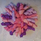 3.5 inch Korker hair clip - pinks and purple