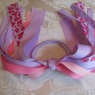 Ribbon Pony O's - light pink and lavender