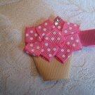Handmade Cupcake Alligator clip